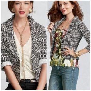 CAbi Du Jour Dotted B&W Blazer Jacket #298 Size 4